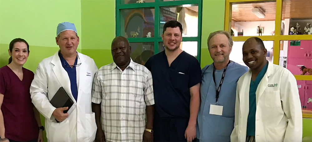 Dr. Humphrey with staff in Africa